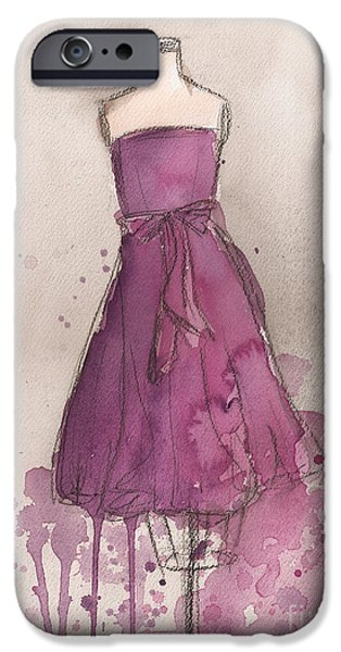 Purple Bow Dress iPhone Case by Lauren Maurer