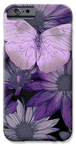 Butterfly iPhone Cases - Purple Butterfly iPhone Case by JQ Licensing