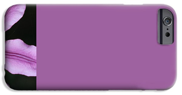 Abstract Digital Photographs iPhone Cases - Purple Clem Twirl iPhone Case by Daniel Unfried