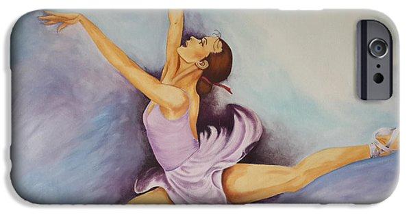 Ballet Dancers iPhone Cases - Purple Dancer iPhone Case by Jeneane Wilson