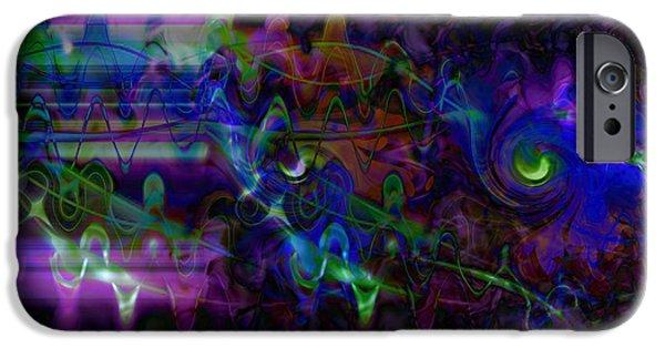 Abstract Digital Art iPhone Cases - Purple Dream iPhone Case by Linda Sannuti