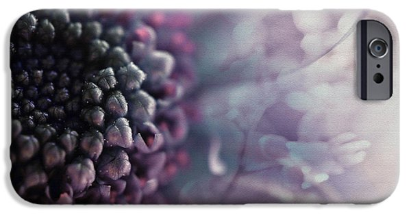 Abstract Flowers iPhone Cases - Purple flowers 2 iPhone Case by SK Pfphotography