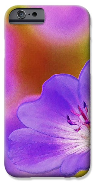 Purple Geranium iPhone Case by Lanjee Chee