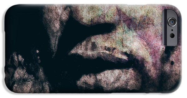 Lips iPhone Cases - Purple Haze iPhone Case by Paul Lovering