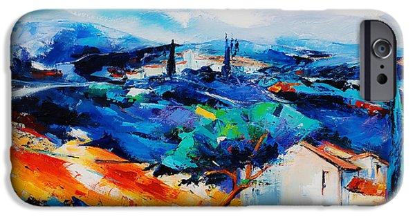 Wonderful iPhone Cases - Purple Hills iPhone Case by Elise Palmigiani