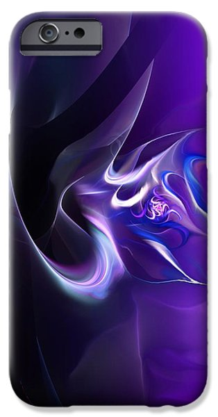 Abstract Expressionism iPhone Cases - Purple Love iPhone Case by David Lane