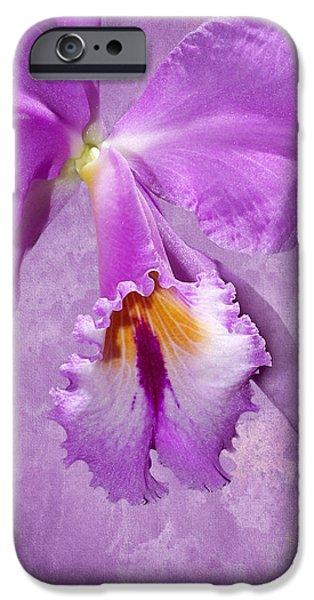 Mist iPhone Cases - Purple Mist Orchid iPhone Case by Phyllis Denton