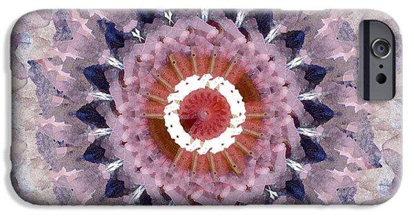Fractal iPhone Cases - Purple Mosaic Mandala - Abstract Art by Linda Woods iPhone Case by Linda Woods