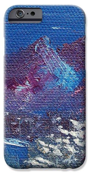 Purple Mountain Landscape iPhone Case by Jera Sky