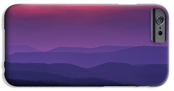 Colorful Cloud Formations iPhone Cases - Purple Mountain Majesties iPhone Case by Thomas R Fletcher