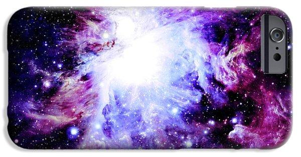 Stellar iPhone Cases - Purple Nebula iPhone Case by Johari Smith