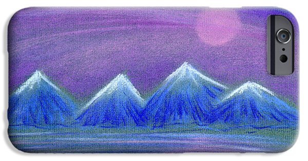 Snow Pastels iPhone Cases - Purple Night 3 iPhone Case by Hakon Soreide
