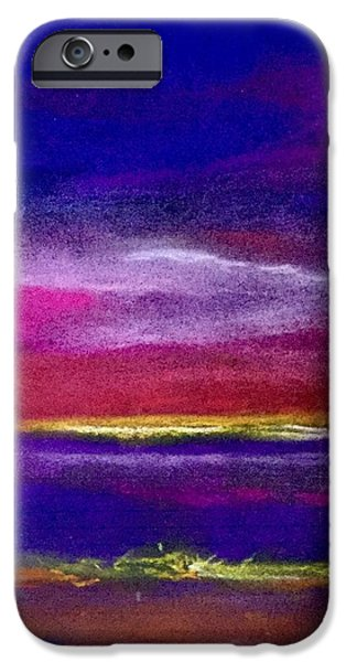 Pastel iPhone Cases - Purple night  iPhone Case by Tom Harmon