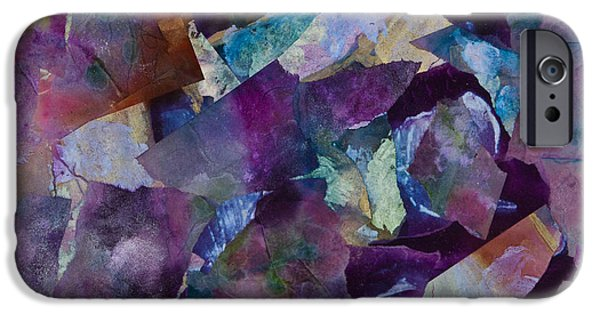 Oil Slick iPhone Cases - Purple Passion  iPhone Case by Don  Wright