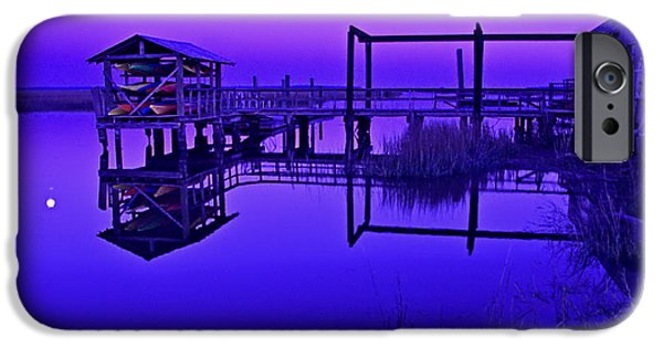 Glynn iPhone Cases - Purple Perspectives iPhone Case by Laura Ragland