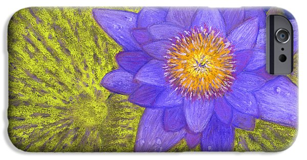 Aquatic Pastels iPhone Cases - Purple Pond Lily iPhone Case by Ginny Neece