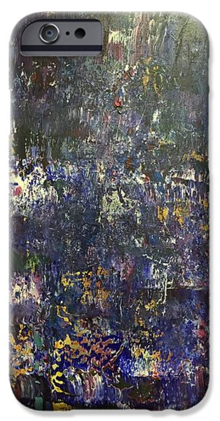 Rainy Day iPhone Cases - Purple Rain iPhone Case by Selena Smith