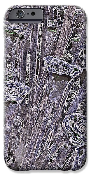 Petals Tapestries - Textiles iPhone Cases - Purple Roses iPhone Case by Edna Weber