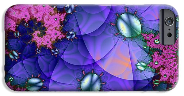 Abstract Digital iPhone Cases - Purple Sand Dollar Swirl iPhone Case by Regina Rodella