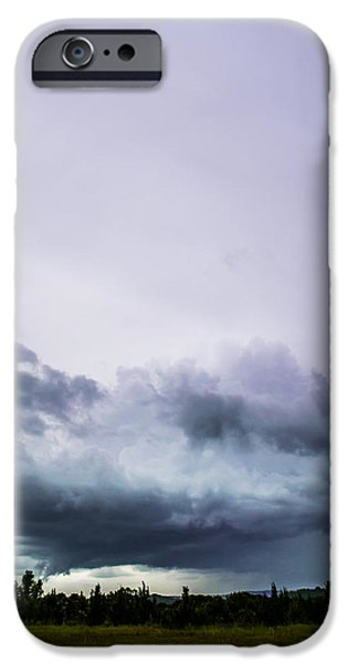Lightning Photographer iPhone Cases - Purple Storms iPhone Case by Shelby  Young