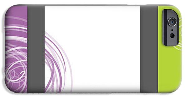 Abstract Digital iPhone Cases - Purple twirl iPhone Case by Nomi Elboim
