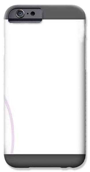 Purple twirl iPhone Case by Nomi Elboim
