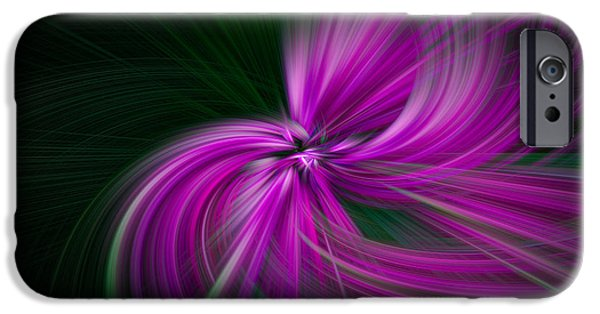 Walden Pond iPhone Cases - Purple Twirls iPhone Case by Noah Katz