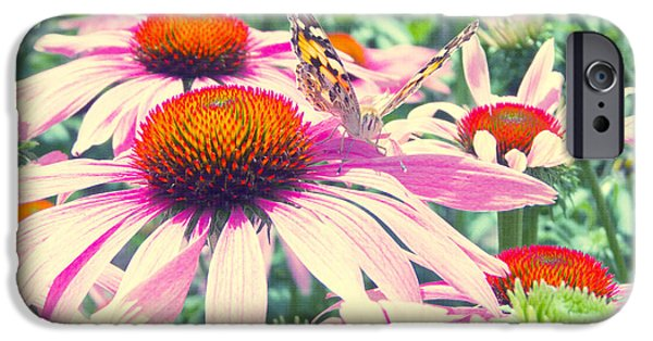 Flora Mixed Media iPhone Cases - Purpur Garten iPhone Case by Angela Doelling AD DESIGN Photo and PhotoArt