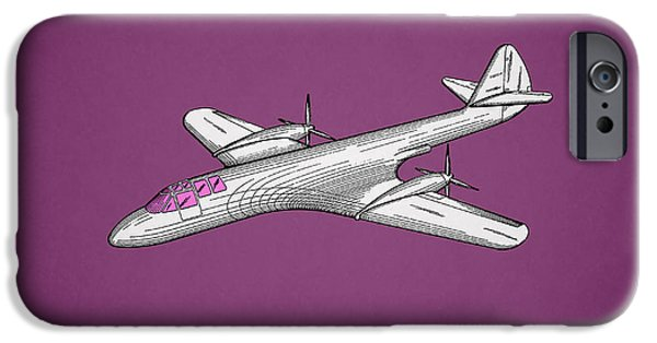 Airplanes Photographs iPhone Cases - Pursuit Airplane Patent 1942 iPhone Case by Mark Rogan