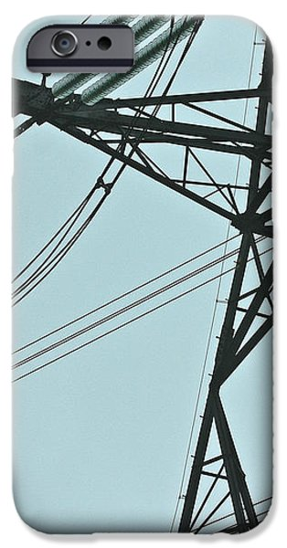 Electrical iPhone Cases - Pylon iPhone Case by Terri  Waters