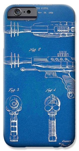 Pyrotomic Disintegrator Pistol Patent iPhone Case by Nikki Marie Smith