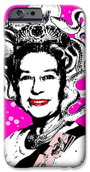 The Royal Family iPhone Cases - Qhueen Lizardbeth iPhone Case by Habib Idris