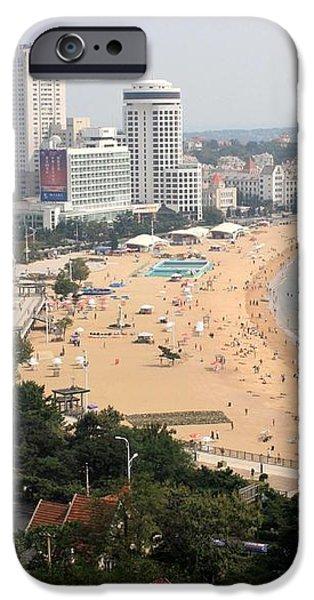 Qingdao Beach with Skyline iPhone Case by Carol Groenen