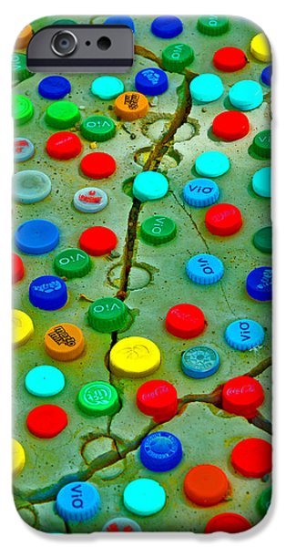 Bottlecaps iPhone Cases - Quay The Rhine. Textures. iPhone Case by Andy Za