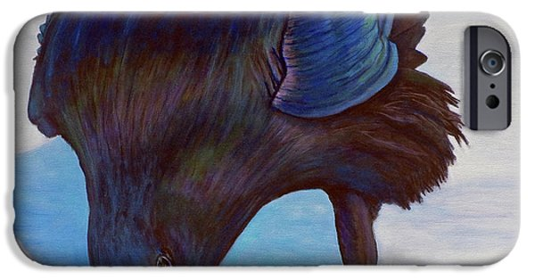Landscape Paintings iPhone Cases - Que Pasa iPhone Case by Brian  Commerford