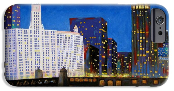 Wrigley Paintings iPhone Cases - Queen and King of Michigan Avenue iPhone Case by J Loren Reedy