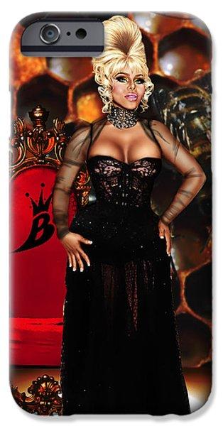 Kim Digital Art iPhone Cases - Queen Bee iPhone Case by Davonte Bailey