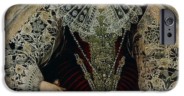 Young Paintings iPhone Cases - Queen Elizabeth I iPhone Case by John the Younger Bettes