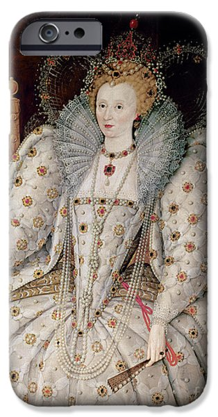 Ruler iPhone Cases - Queen Elizabeth I of England and Ireland iPhone Case by Anonymous