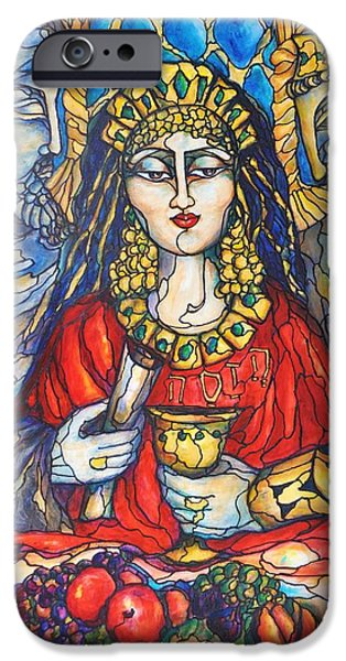 Purim iPhone Cases - Queen Esther iPhone Case by Rae Chichilnitsky