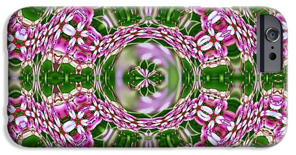 Abstract Digital Mixed Media iPhone Cases - Queen Flora iPhone Case by Georgiana Romanovna