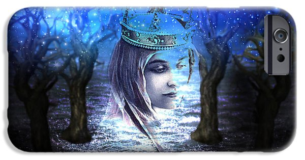 Morgan Le Fay iPhone Cases - Queen of Air and Darkness iPhone Case by Lisa Yount