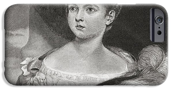 Little Girl iPhone Cases - Queen Victoria, Aged 11, 1819 iPhone Case by Ken Welsh