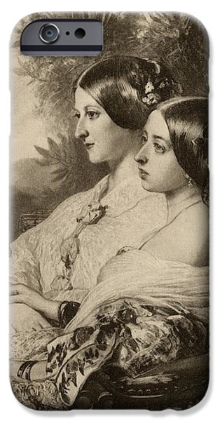Duchess iPhone Cases - Queen Victoria,1819-1901, And Princess iPhone Case by Vintage Design Pics