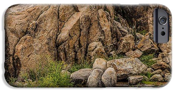 Watson Lake iPhone Cases - Quiet Reflections Watson Lake Prescott AZ iPhone Case by Marti Huzarski