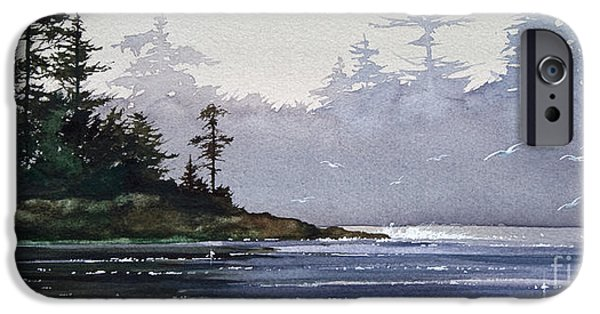 Landscape Greeting Cards iPhone Cases - Quiet Shore iPhone Case by James Williamson