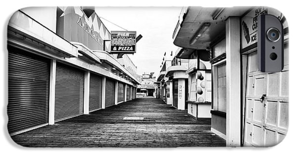 Seaside Heights iPhone Cases - Quiet Walk iPhone Case by John Rizzuto