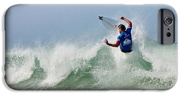 Surfing Magazine iPhone Cases - Quiksilver Pro France I iPhone Case by Thierry Bouriat