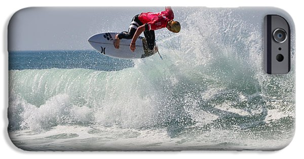 Surfer Magazine iPhone Cases - Quiksilver Pro France II iPhone Case by Thierry Bouriat