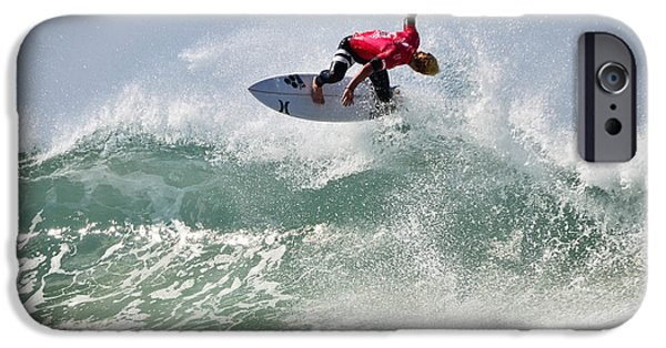 Surfing Magazine iPhone Cases - Quiksilver Pro France IV iPhone Case by Thierry Bouriat